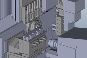 Dual-Spindle CNC Lathe